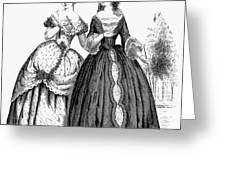 Womens Fashion, 1851 Greeting Card