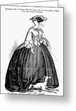 Womens Fashion, 1857 Greeting Card