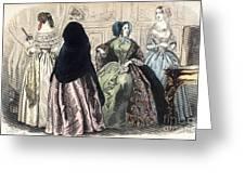 Womens Fashion, C1850 Greeting Card