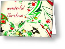 Wonderful Christmas Greeting Card