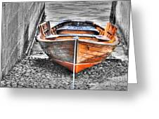 Wood Boat Greeting Card