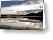 Wood Lake Mirror Image Greeting Card