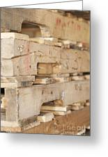 Wood Pallets Greeting Card