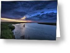 Wood River Saskatchewan Canada Greeting Card