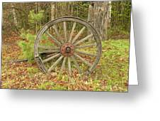Wood Spoked Wheel Greeting Card