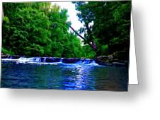 Wooded Waterfall Greeting Card by Bill Cannon