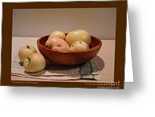 Wooden Bowl With Apples-i Greeting Card