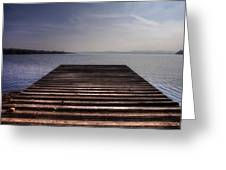 Wooden Bridge Greeting Card by Joana Kruse