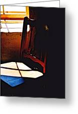 Wooden Chair In Light Greeting Card