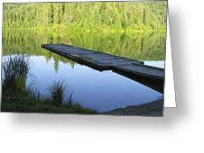 Wooden Dock On Lake Greeting Card