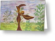 Wooden Femme Greeting Card