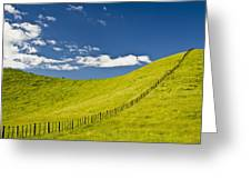 Wooden Fence Posts Running Through A Greeting Card