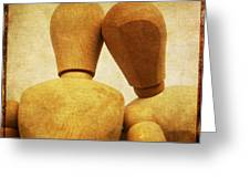 Wooden Figurines Greeting Card