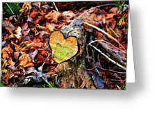 Wooden Heart Greeting Card