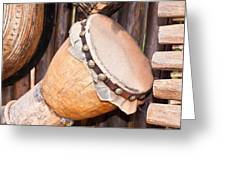 Wooden Instruments Greeting Card