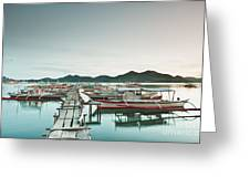 Wooden Pier Greeting Card