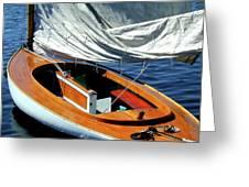 Wooden Sailboat 1 Greeting Card