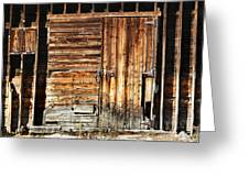 Wooden Slats Barn Greeting Card