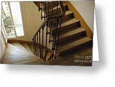 Wooden Stairs In Traditional Parisian Building Greeting Card