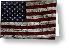Wooden Textured Usa Flag2 Greeting Card