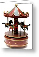 Wooden Toy Carousel Greeting Card