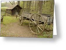 Wooden Wagon Greeting Card