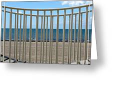 Woodlawn Beach State Park Through Playground Equipment  Greeting Card
