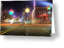 Woodward Ave Detroit Mi Greeting Card