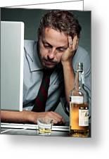 Work Stress Greeting Card