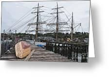 Working Dock Greeting Card