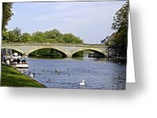 Workman Bridge And The River Avon Greeting Card