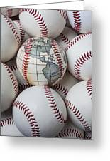 World Baseball Greeting Card