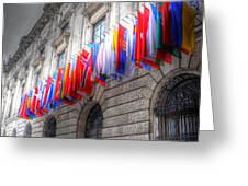 World Flags Greeting Card by Barry R Jones Jr