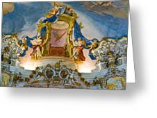 World Heritage Frescoes Of Wieskirche Church In Bavaria Greeting Card