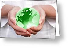 World In Your Hands Greeting Card