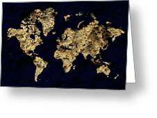 World Map Rock Greeting Card