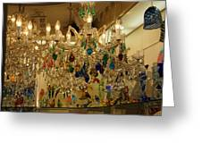 World Of Glass In Venice Greeting Card