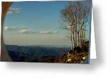 World On Top Greeting Card