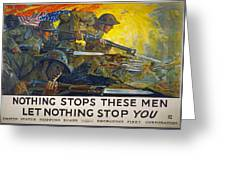 World War I: Poster, 1918 Greeting Card
