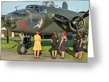 World War II B-25 Bomber Briefing Time Greeting Card