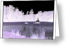 Worlds Smallest Chapel Church Negative Inverted Image Greeting Card