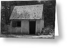 Wormsloe Cottage In Black And White Greeting Card