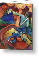 Wounded Prophet Greeting Card by William Sosa