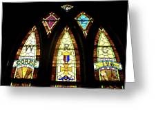 Wrc Stained Glass Window Greeting Card
