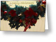 Wreath Garland Greeting Greeting Card by DigiArt Diaries by Vicky B Fuller