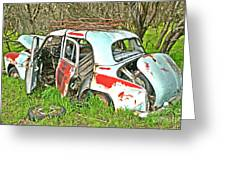 Wreck Of Rust Greeting Card