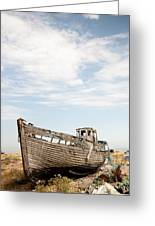 Wrecked Boat Greeting Card