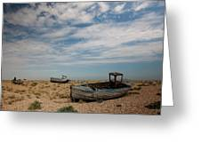 Wrecked Boats Dungeness Greeting Card