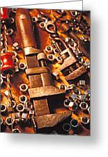 Wrench Tools And Nuts Greeting Card