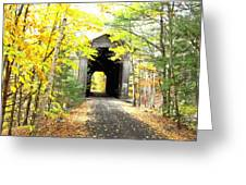 Wrights Covered Bridge Greeting Card